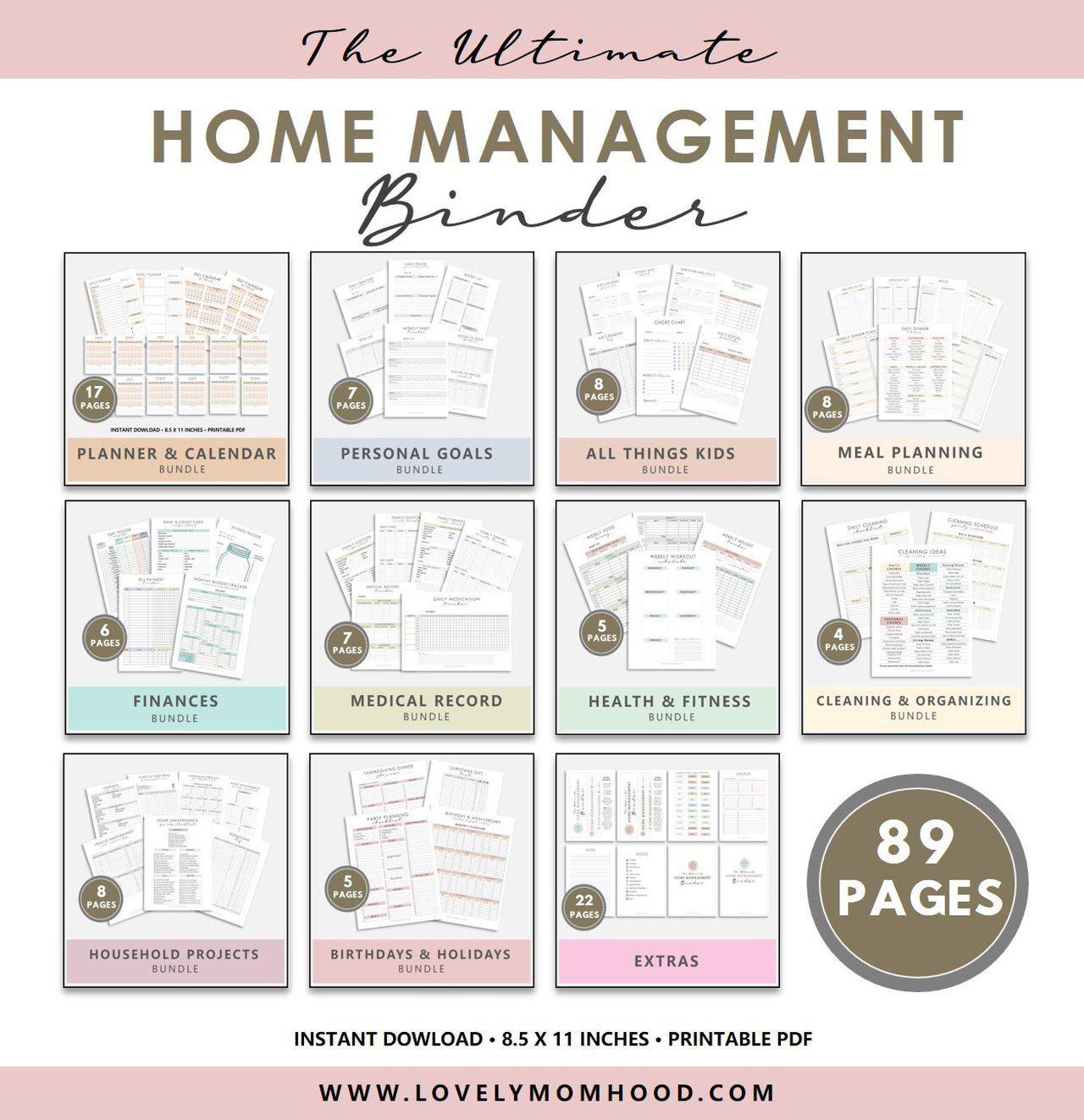 Home Management Binder Printable Bundle