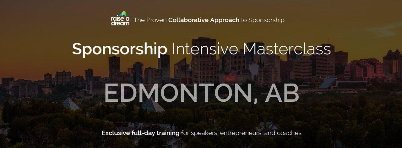 Sponsorship Intensive Masterclass: Edmonton (Mar. 1, 2019) - EARLY BIRD